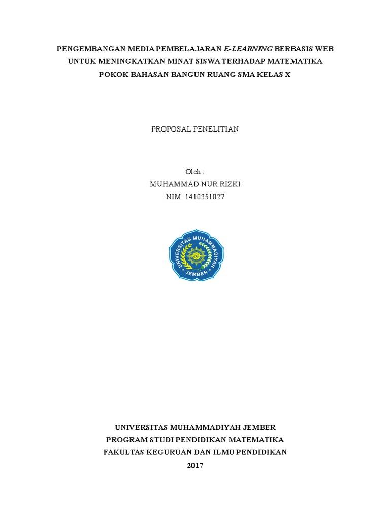 Skripsi Pengembangan Media Pembelajaran Matematika Ide Judul Skripsi Universitas