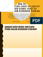 Bab 28 - Biaya Ekuitas (Cost of Equity) Dan Biaya Utang (Cost of Debt) Dalam Keuangan Syariah