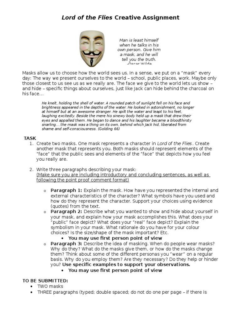 we wear the mask essay conclusion