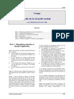 Congo - Code Securite Sociale