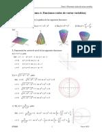 SOLUCIONES Tema 4. Funciones Reales de Varias Variables