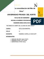 Informe de Campo de La Zona San Cirilo-Cajamarca