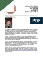 Sen. Griffin Memorial Letter 4-26-17