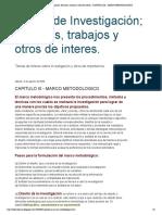 Temas de Investigación; Ensayos, trabajos y otros de interes