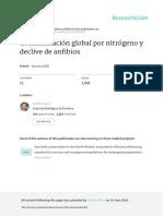 Contaminacion Global Por Nitrogeno y Declive de Anfibios