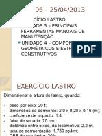 AULA 06 – Altura Do Lastro e Equip. de Manutenção.