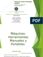 Diapositiva de Maquinas Manuales, Proceso de manufactura