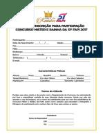 Ficha Inscrição Concursoklo
