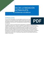 Radiación Ultravioleta - Ecosistemas Acuáticos