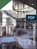 Lightolier Calculite HID Downlighting Catalog 1988
