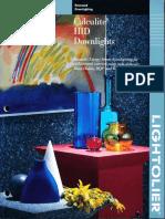 Lightolier Calculite HID Downlighting Catalog 1994