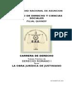 La Obra Jurídica de Justiniano