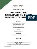 Recurso de Reclamación en Un Proceso Tributario