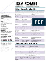 marissa romer theatrical resume