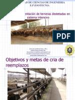 Alimentacion y Manejo de Terneras Destetadas. (1)