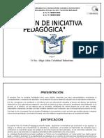 Plan de Iniciativa Pedagógica Olga