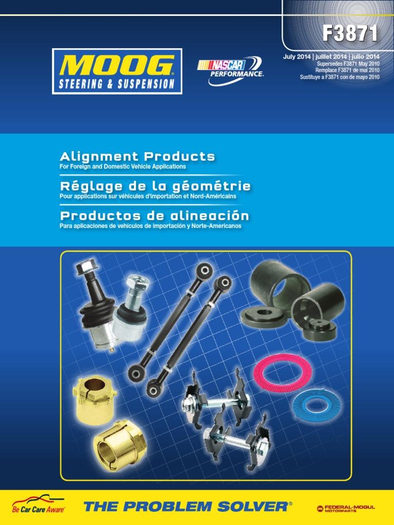 Moog K8990 Camber//Caster Adjusting Plate