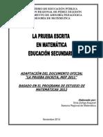 Emailing La Prueba Escrita en Matemática.