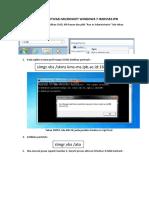 Panduan Aktivasi Windows 7