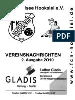Vereinszeitung des FCN Hooksiel