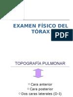 1 Examen Fisico Del Torax