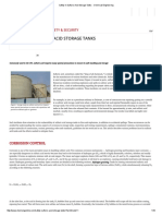 Safety in Sulfuric Acid Storage Tanks - Chemical Engineering_1