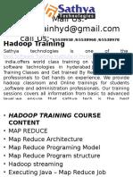 Hadoop training – Best software training institute