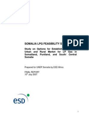 Somali LPG Gas Feasibility Report | Liquefied Petroleum Gas