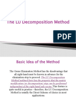 The LU Decomposition Method