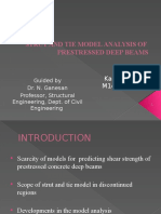 Strut and Tie Model Analysis of Prestressed Deep beams