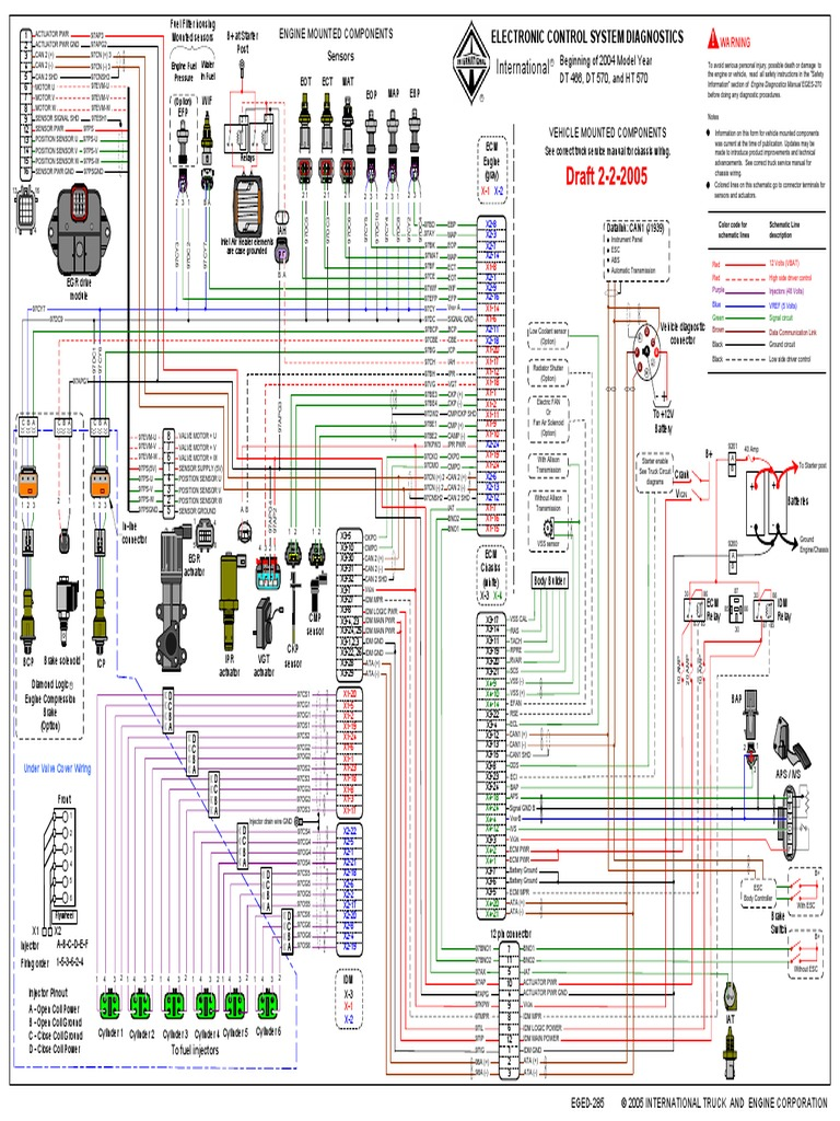 154013568-Diagrama-Electronico-DT466 pdf | Vehicles | Automotive