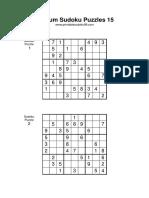 Medium Sudoku 015