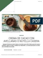Crema de cacao con avellanas o nutella casera | Recetas El Comidista EL PAÍS NUTELLA