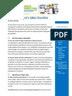 A Consultants Checklist