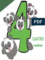 Fichas de Números Para Niños 4