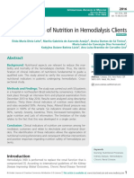 Clinical Indicators of Nutrition in Hemodialysis Clients