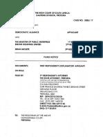 Lynne Brown's affidavit on Brian Molefe's reinstatement