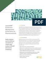 Aspenone Production Management Execution Pharmaceuticals