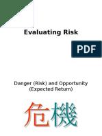 Lecture Evaluating Risk Return