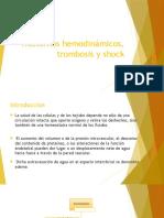 Trastornos Hemodinámicos Trombosis y Shock