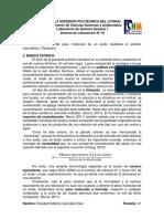 (Informe 10) Determinación Del Peso Molecular de Un Ácido Mediante El Análisis Volumétrico (Titulación)