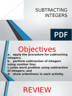 PPT - DeMO Presentation Subtracting Integers