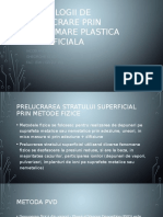 Tehnologii de Prelucrare Prin Deformare Plastica Superficiala