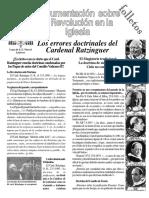 Algunas de Las Herejías de Ratzinger