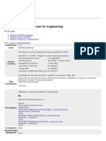 ENEN20002 Earth Processes for Engineering - 2017