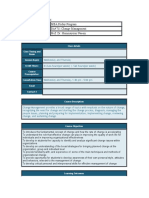 Change Mgt. Course Profile
