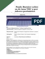 Voto de Paulo Burnier Sobre Cobrança de Taxa THC 2 Por Operadores Portuários