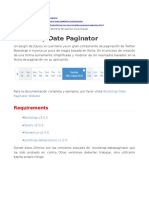 Bootstrap Date Paginator
