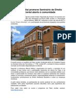 Fatec Jundiaí promove Seminário de Direito Ambiental aberto à comunidade