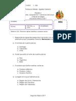 Prueba 2. Historia, Geografía y Ciencias Sociales - Chile en El Mapa
